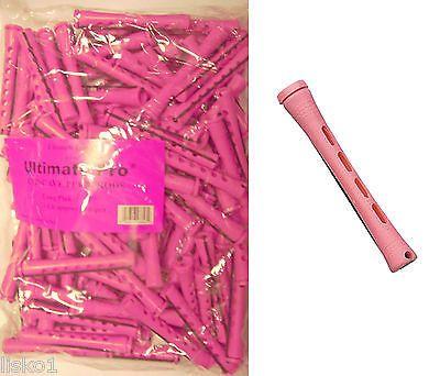 "1 LB BAG, 3"" Long Pink Concave Hair Perm Rod w/ elastic band LMS"