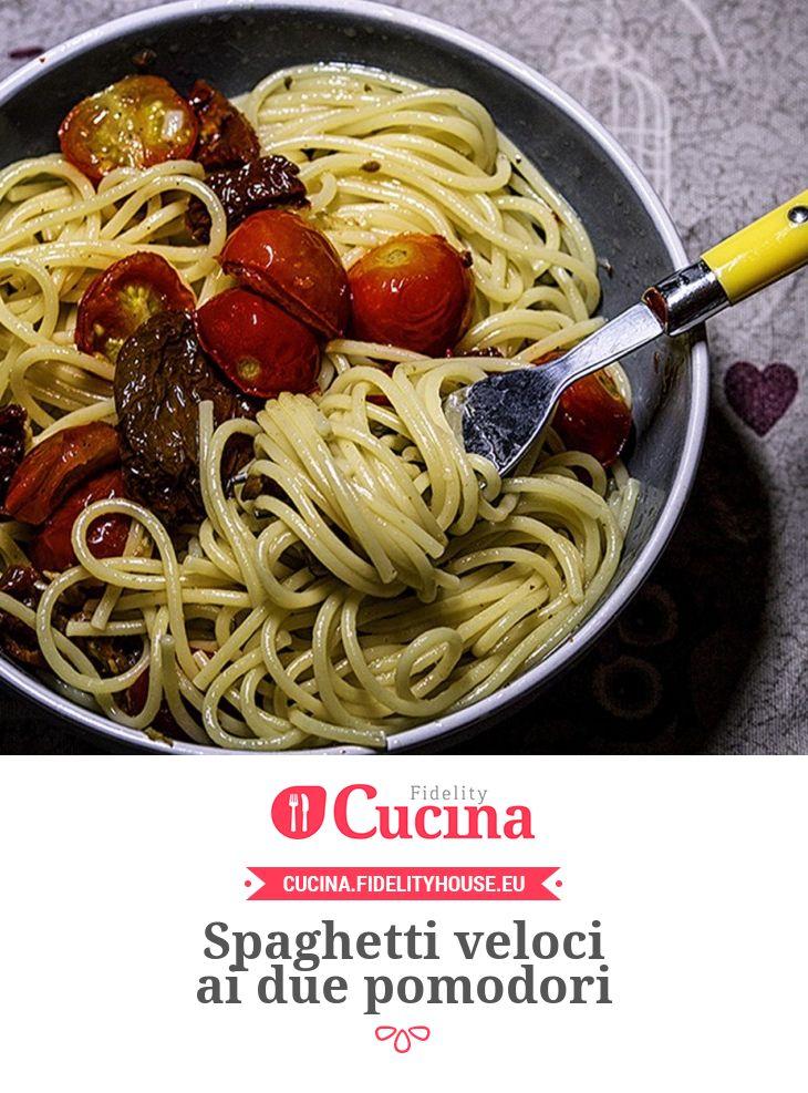 Spaghetti veloci ai due pomodori