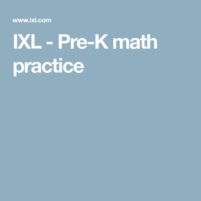IXL - Pre-K math practice