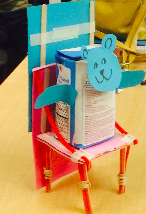 baby bear and chair: Build a chair that will not break when goldilocks sits down (doll?)