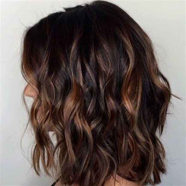 The Most Popular Highlights For Dark Hair Are Light Brown Or Caramel