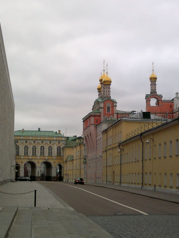 In the courtyard of the Kremlin