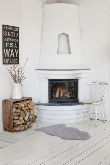 love this fireplace // by Anna Kvarnström