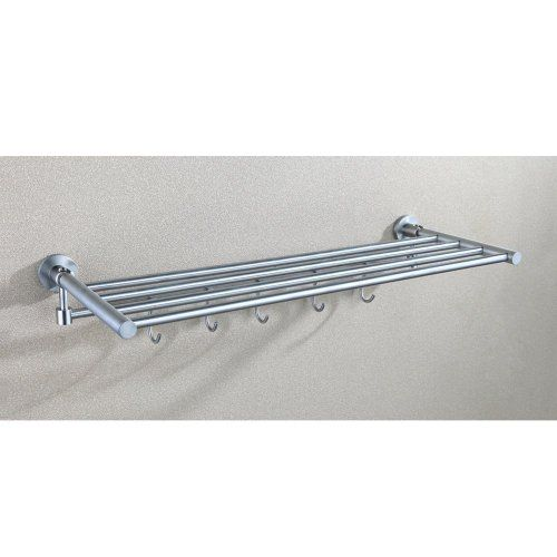 Lovely Double towel Bar with Shelf Brushed Nickel