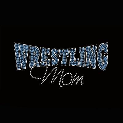 Wrestling mom rhinestone transfer-Rhinestone transfers,Custom rhinestone transfers,Rhinestone transfer wholesale largest supplier in china