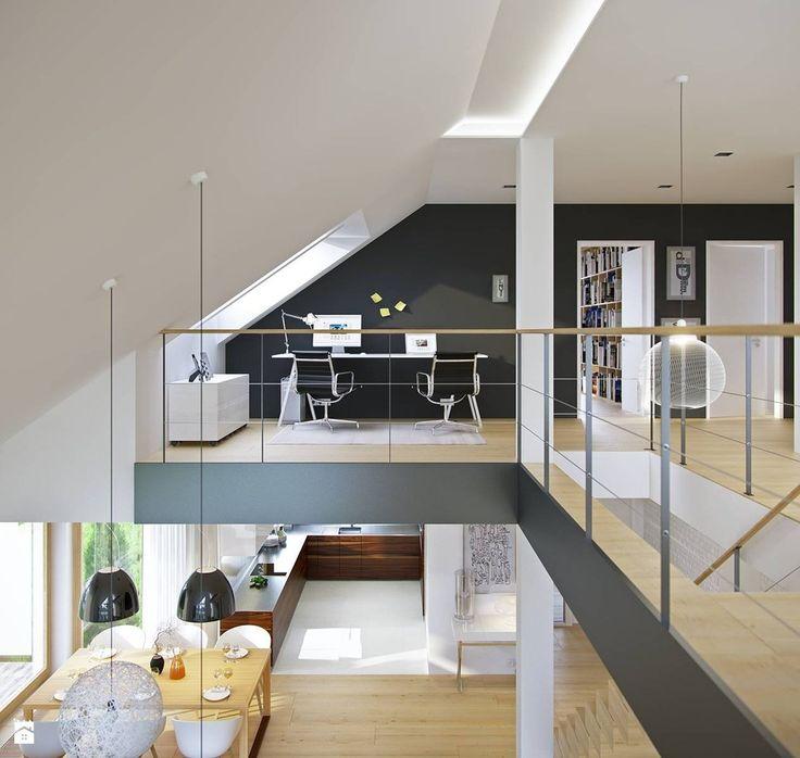 Gabinet styl Minimalistyczny - zdjęcie od DOMY Z WIZJĄ - nowoczesne projekty domów - Gabinet - Styl Minimalistyczny - DOMY Z WIZJĄ - nowoczesne projekty domów