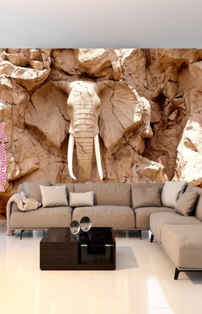 Stone Elephant South Africa Fototapete Wohnzimmer Tapeten Ideen Tapeten