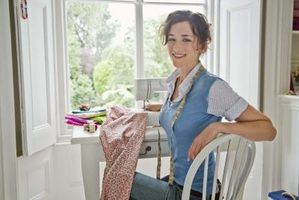 Design a sewing room layout that is comfortable and easy to get around.