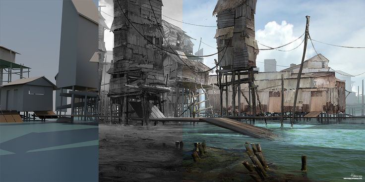 ArtStation - Bajau Chronicle 1 ( The Dock), Hebron PPG