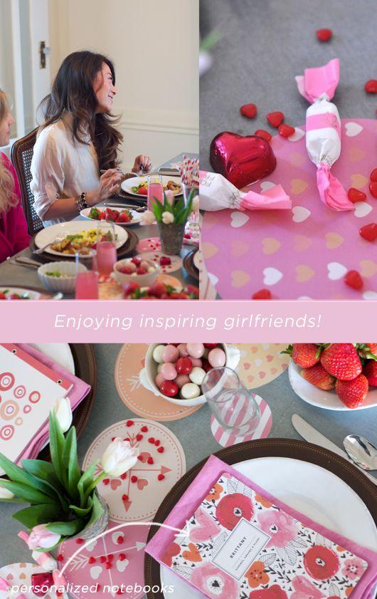 Girlfriends' Valentine Brunch with Minted // Sacramento Street -- I LOVE THE NOTEBOOK