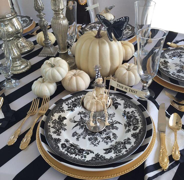 how to set an elegant halloween table - Elegant Halloween