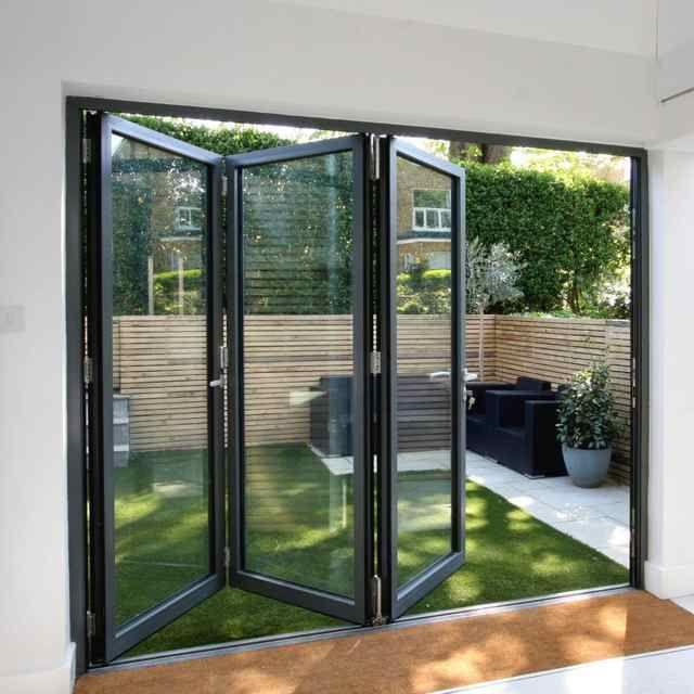 Source Low E Glass Aluminum Folding Accordion Kitchen Custom Bi Fold Doors For Veranda On M Sliding Doors Exterior Folding Glass Patio Doors Glass Doors Patio
