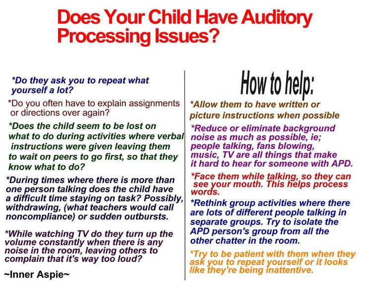 Auditory processing issues