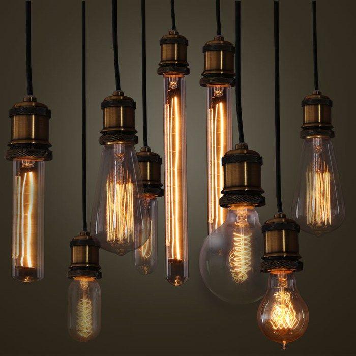 Винтажные лампы Эдисона ретро стиль