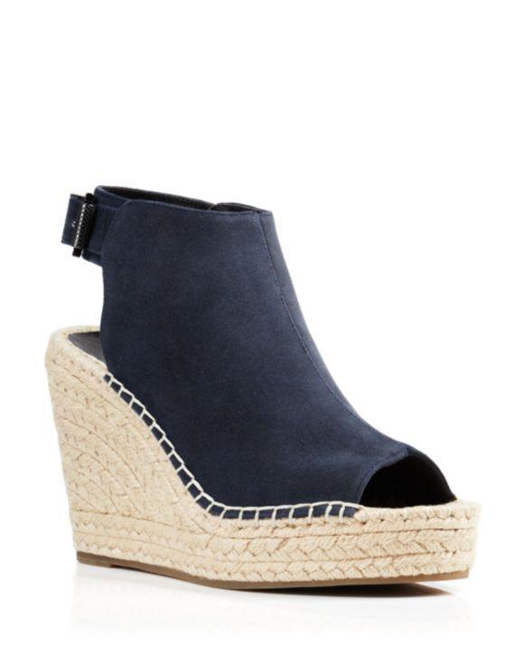 40aede185ce8 Kenneth Cole Olivia Suede Espadrille Wedge Platform Sandals