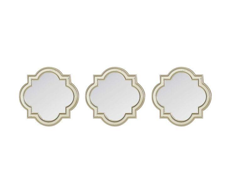 Набор из 3 зеркал - стекло - золотой - Д25 см | Westwing Интерьер & Дизайн