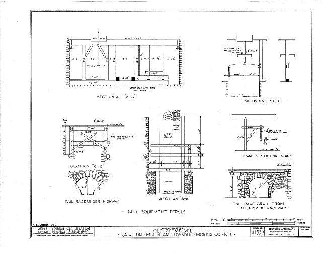 HABS NJ,14-RAL,1- (sheet 8 of 8) - John Ralston Mill, Ralston, Morris County, NJ