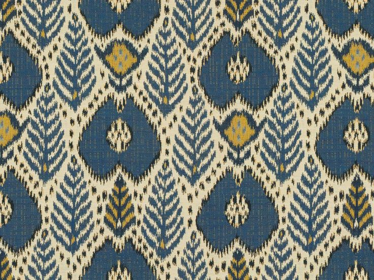 Brunschwig & Fils BUKHARA IKAT BLUE/GOLD 8013100.54