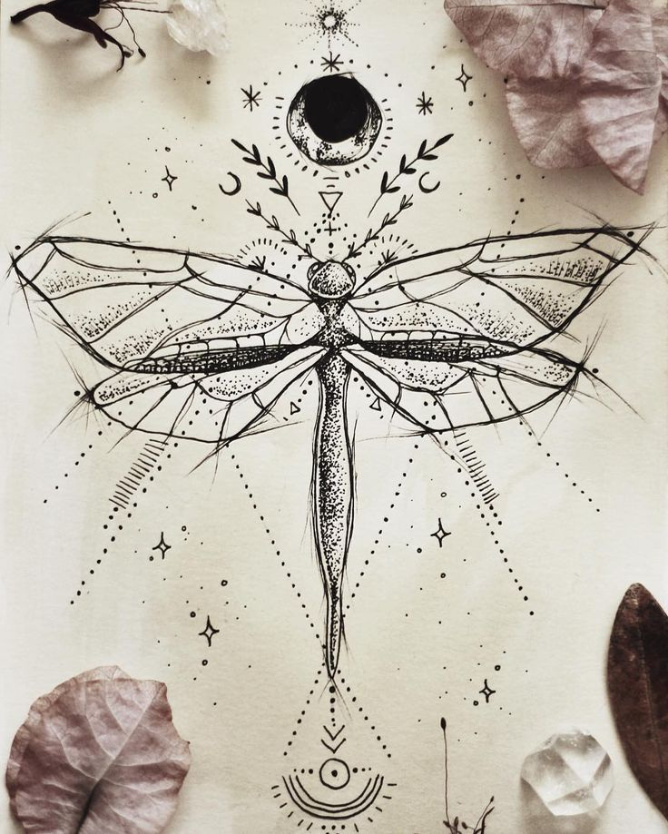 Dragonfly tattoo design for a friend ♥︎ Mais