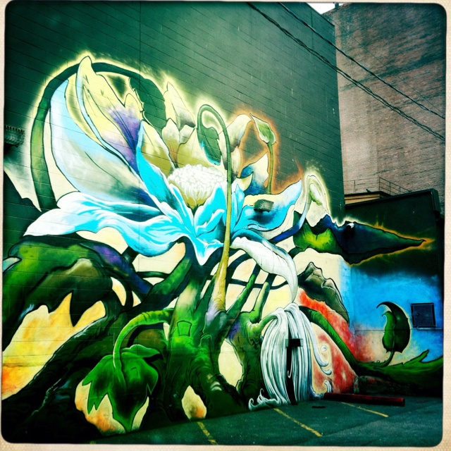 Vancouver has some really cool alley art. This one is near Stan Douglas' studio in the downtown east side.