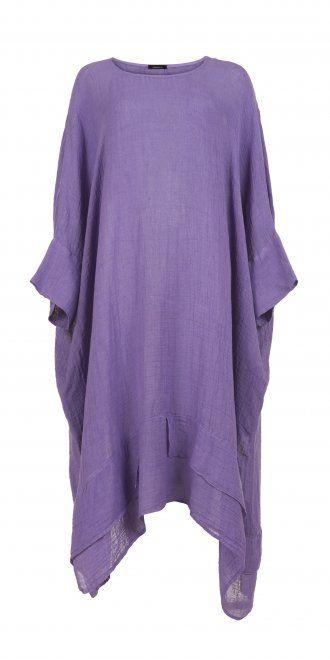 Idaretobe.com Bright Lilac Linen Dress
