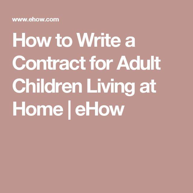 12 best Parent/child contract ideas images on Pinterest Kid stuff