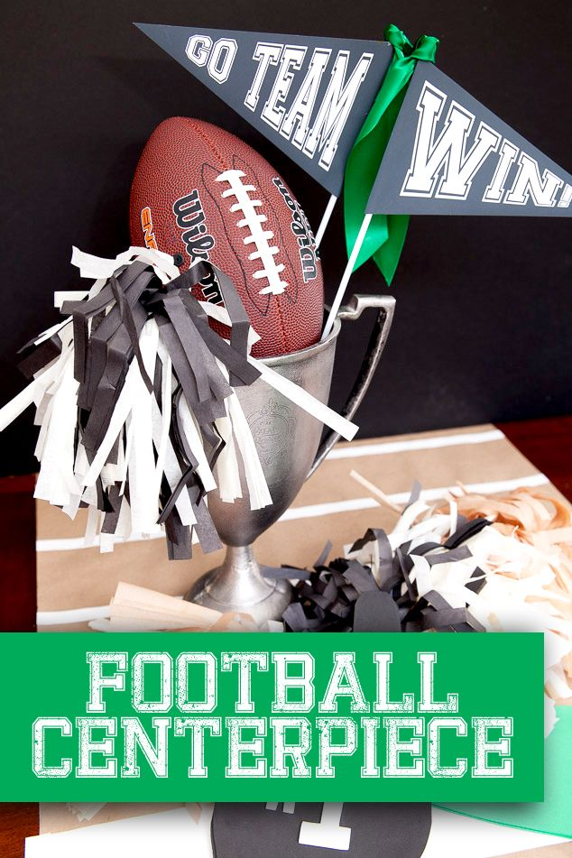 Football party centerpiece ideas and tutorial