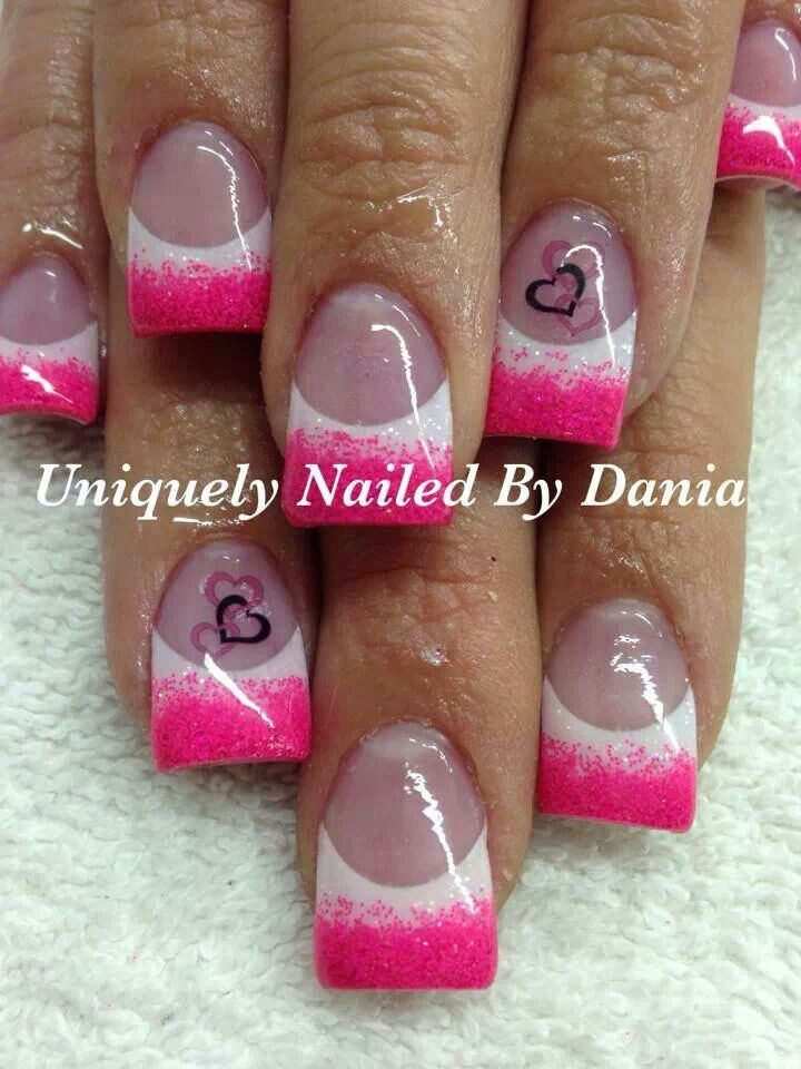 Cute Valentine nails!