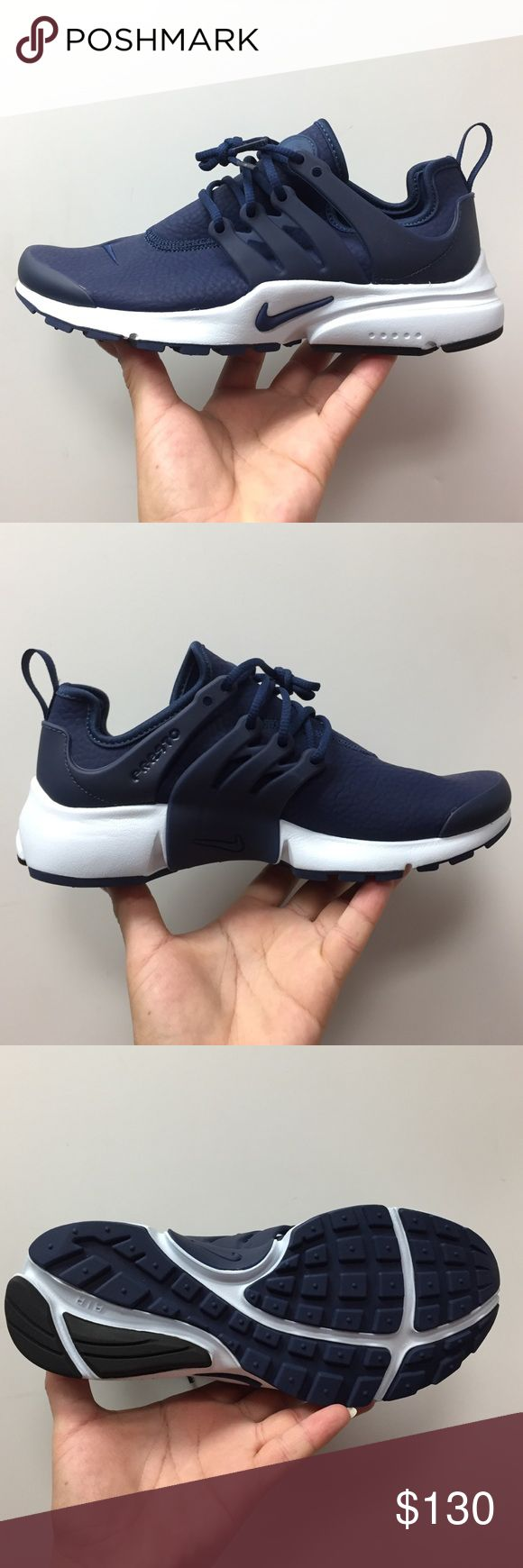 Home nike wmns air presto flyknit ultra midnight turquoise olive - Womens Air Presto Prm New With Box Midnight Navy Nike Shoes Sneakers
