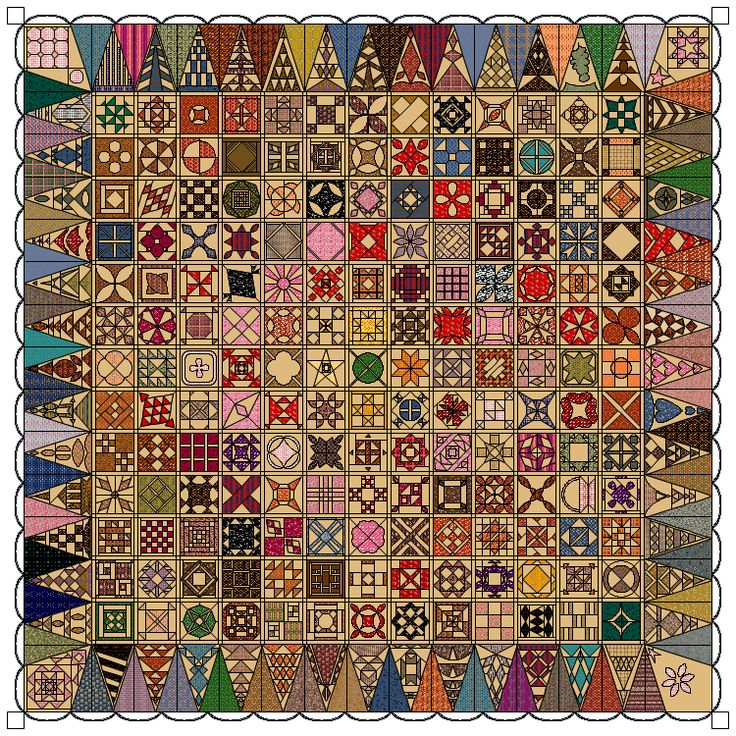 Dear Jane. I like the variety of colors in this drawing which would make it easier to buy as you piece the quilt.