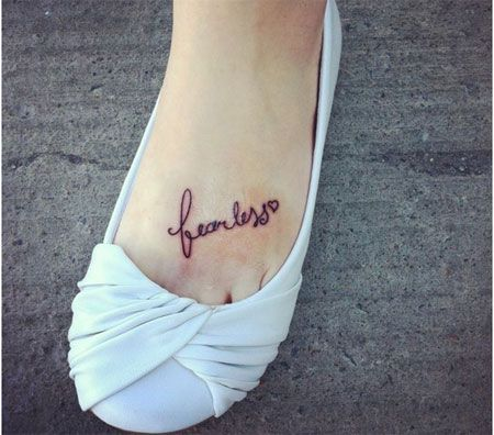 I would get this along the arch if my foot. Painful but meaningful and totally worth it