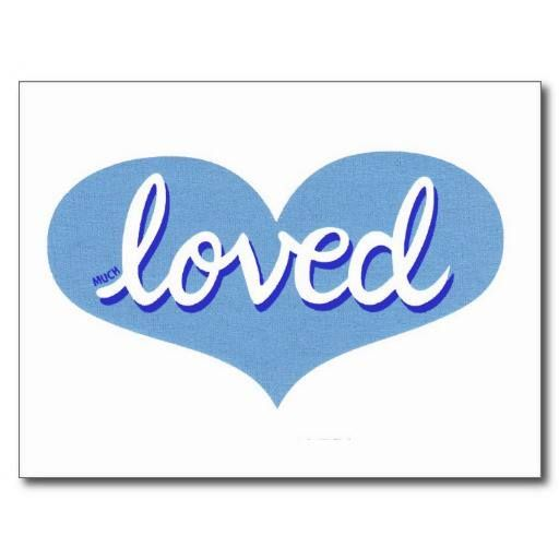 Giftcard Blue heart design Available also as a notecard and in a range of designs