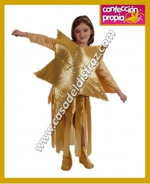 Disfraz de Estrella Dorada para niña. #Disfraces #Navidad www.casadeldisfraz.com