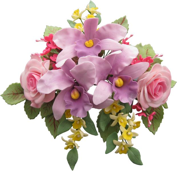 Cattleya Orchids and Roses