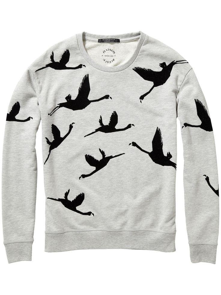 Flamingo Print Sweater  sweat Woman Clothing at Scotch & Soda