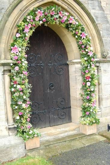 Wedding Arches with Flowers | Decorate the entrance to your venue or Church with a flower arch. Pink ...