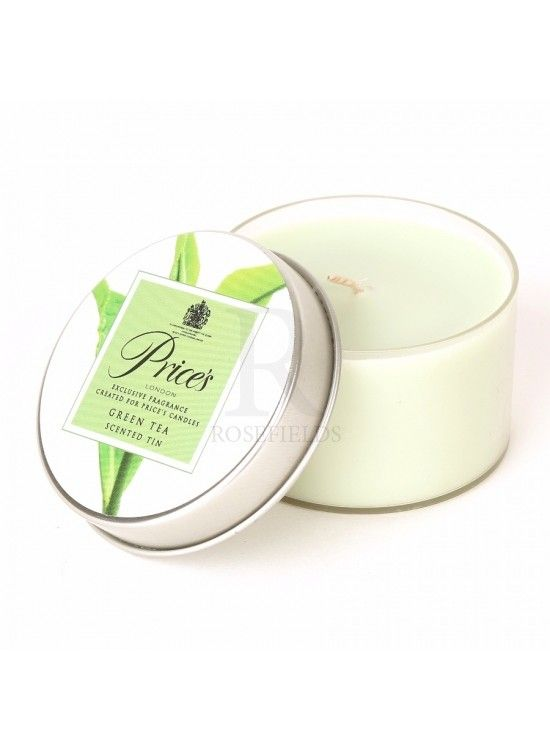 Green Tea Prices Candle Tin Prices candle tin with a green tea scented candle inside  Diameter 7cm with a burn time of up to 30 hours   Minimum order amount is 3 pieces  1+£1.66 each