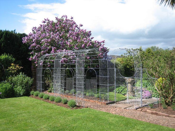 Iron Trellis Pergola Handcrafted English Wirework Garden