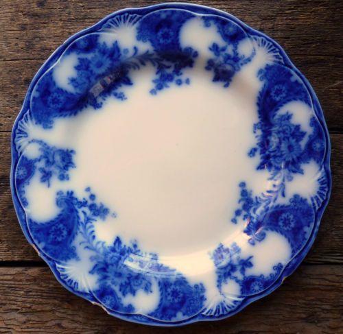 Antique New Wharf Pottery England Flow Blue Dinner Plate Lois Porcelain Nice & 9 best flowblue images on Pinterest   Flow Gilded edge and Children