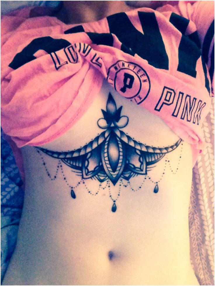 30 Sexy Under Breast Tattoos You Won't Be Able To Take Your Eyes Off