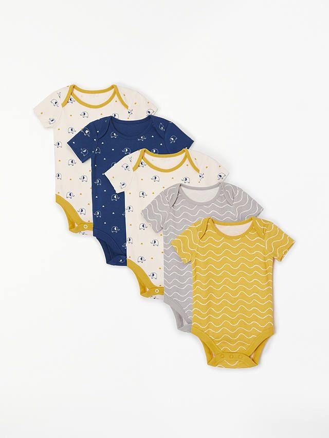 60b7868b018 BuyJohn Lewis   Partners Baby GOTS Organic Cotton Elephant Short Sleeve  Bodysuits