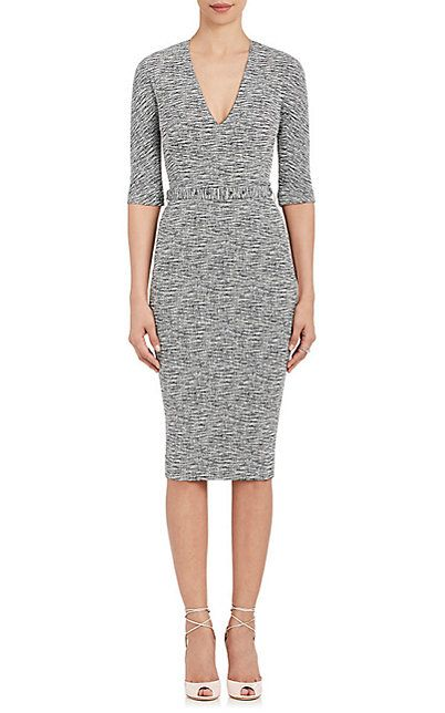 We Adore: The Cotton-Blend Belted Sheath Dress from Victoria Beckham at Barneys New York