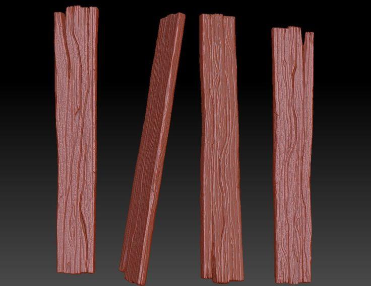 Afbeeldingsresultaat voor stylized wood zbrush