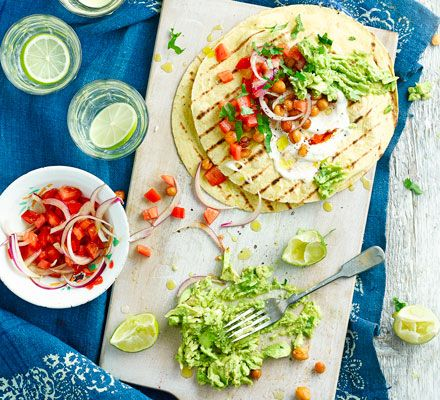 Chickpea fajitas | BBC Good Food