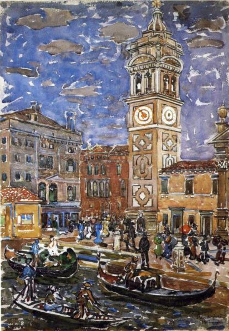 "Maurice Prendergast, ""Santa Maria Formosa, Venice,"" 1911-12 (via Wikipaintings)"
