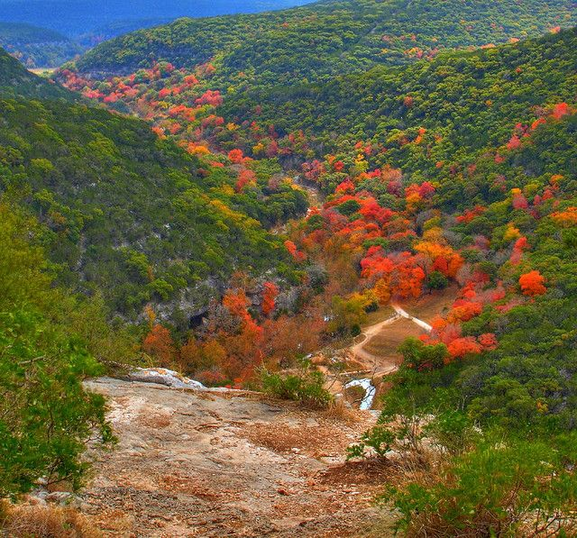 Only in Texas hiking trails  http://www.onlyinyourstate.com/texas/15-epic-hiking-spots-in-tx/ Excellent list of Texas hiking sites