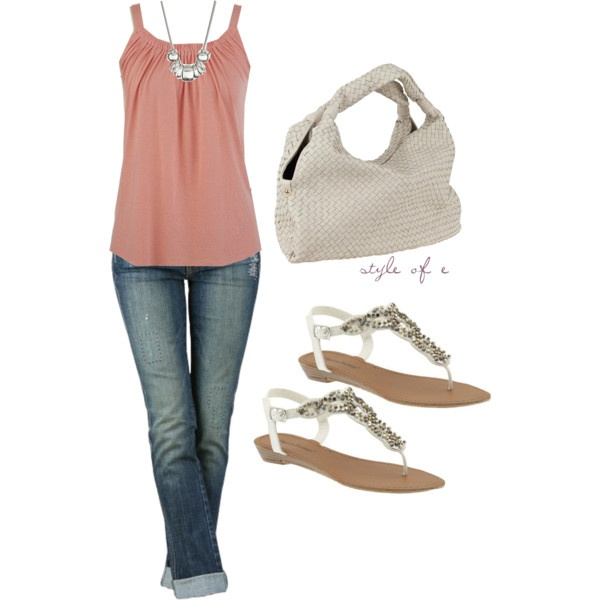 Casual Pink on Polyvore: Shoes, Dreams Closet, Style, Cute Outfits, Spring Summ, Jeans, Cute Summer Outfits, Casual Outfits, Spring Outfits