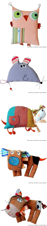 Las almohadas-juguetes de GOHA