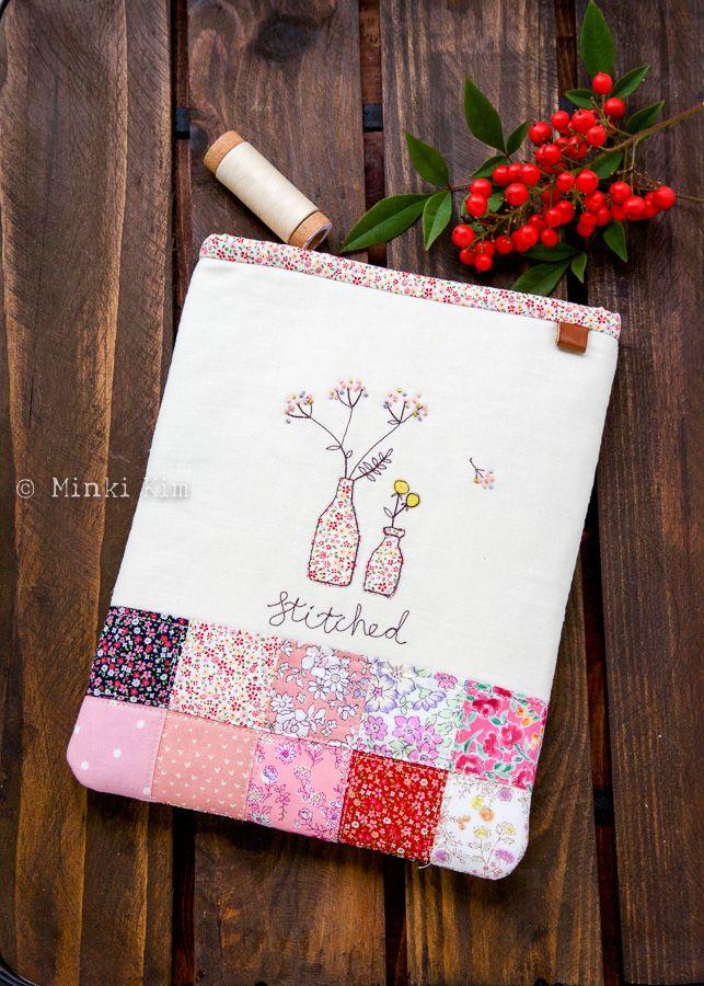 Stitched, Patchwork zip pouch – Minki's Work Table