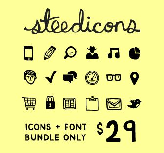 Over 300 hand-drawn icons + Web-safe font file – only $29! | What About Mac Bundles?